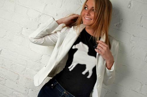 BITO Black shirt white horse