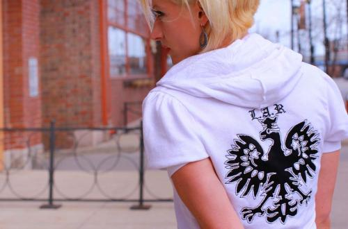 BITO White Hoodie Heraldic Eagle