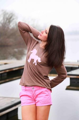 Northeast Pink Pony Brown Shirt